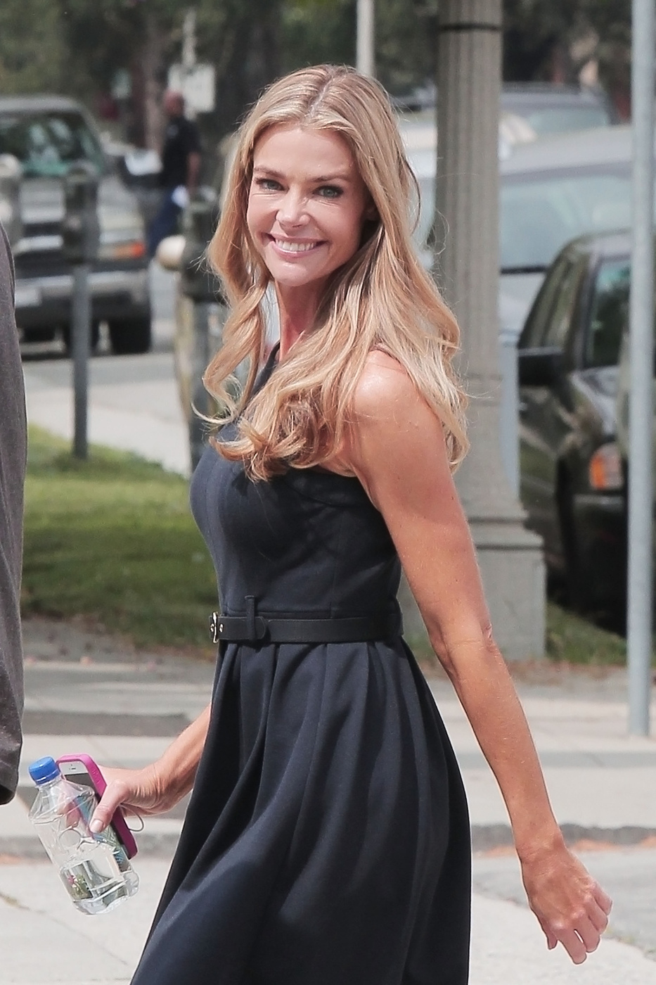 Denise Richards arrives for the first day on the set of new TV pilot 'Twisted' in Los Angeles